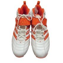adidas Men's White Orange Pro Intimidate D 3/4 Football Cleats Shoes Sz 14 NWT - $39.60
