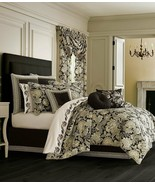 New J.Queen New York Midnight Mist Jacobean Floral King Comforter Set Black - $263.99