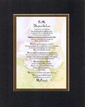 Touching and Heartfelt Poem for Daughters - To My Daughter-in-Law Poem on 11 x 1 - $16.78