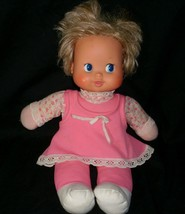 VINTAGE IDEAL TOY CORP 1980 BABY SEES ALL DOLL GIRL PINK OUTFIT EYES & H... - $34.64