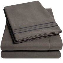 1500 Supreme Collection Extra Soft King Sheets Set - Gray Luxury Bed She... - $41.57