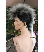 Unisex MOHAWK Quality Wig for men or women.  Black tipped in  WHITE !  - $28.99