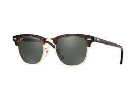New Ray Ban Clubmaster RB3016 W0366 Mock Tortoise/Gold w/Green G-15 49mm - $160.44