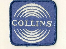 """Collins Blue White Round Circles 3"""" Square Cheesecloth Advertising Patch - $14.53"""