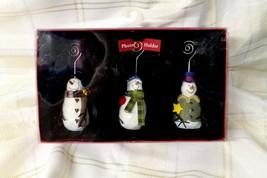 St. Nicholas Square Snowmen Photo Holder Set of 3 - $18.80