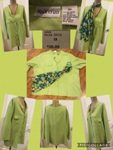 NEW! Apparenza Ladies Button Front Top Plus Size 3X Green With Scarf Ret... - $9.89