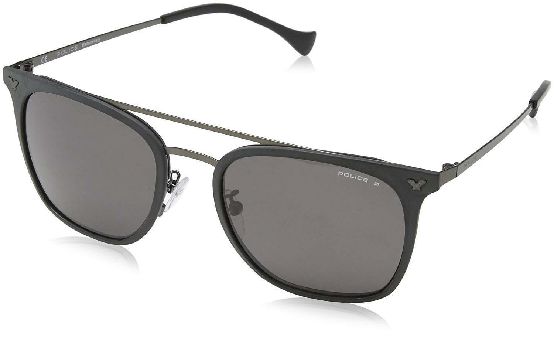 Police Sunglasses S8848 Flash 1 349B Polished Gold Blue Mirror
