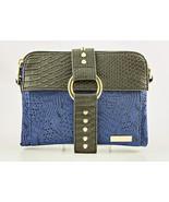 Blue Jacquard Pouchee East-West Safari Crossbody/Organizer Bag - $32.90
