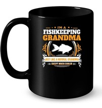 Funny Fishkeeping Grandma Ceramic Mug Christmas Gift for Grandma - $13.99+