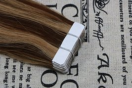"""20"""" Tape in Extensions Remy Human Hair Extensions Brazilian Remy Hair Glue in Re image 3"""