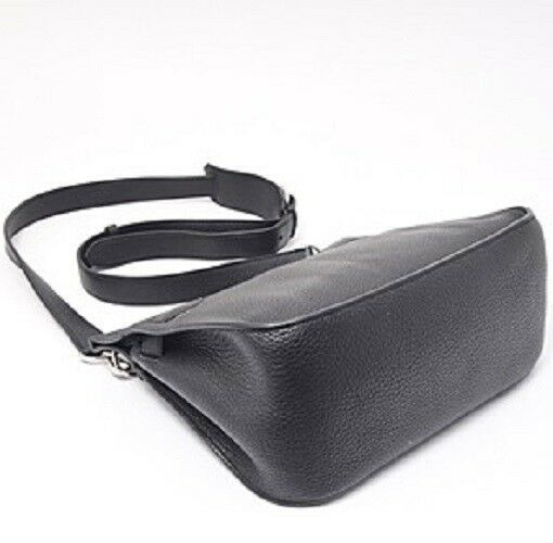 HERMES Taurillon Clemence Jypsiere 28 Black O Carved seal Shoulder Bag Silver  image 5