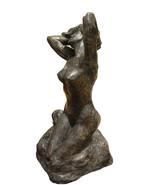 """Woman Posing Naked Rodin Bronze Statue replica -  Size: 14""""L x 13""""W x 27""""H. - $1,200.00"""