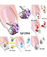 Nail Art Water Transfer Sticker Flower Cat Сartoon Decals Tips Decoratio... - $2.69