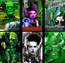 Classic Monster Super Lot 6 prints Boris Karloff Frankenstein Bride Crea... - $40.99