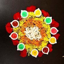 ARVANA Decorative Designer Handcrafted Terracotta Diya for Diwali Pooja, Gifts & image 3