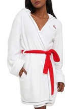 Hello Kitty Plush White Robe Fleece Lined Junior's Size S/M & L/XL - NWT - ₨1,545.62 INR