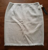 Elie Tahari Womens Wool Skirt Size 10 Ivory Purple Amethyst NEW WITH TAG $228 - $37.12