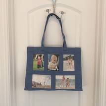 Blue PHOTOGRAPHS TOTE PURSE BAG - $25.00