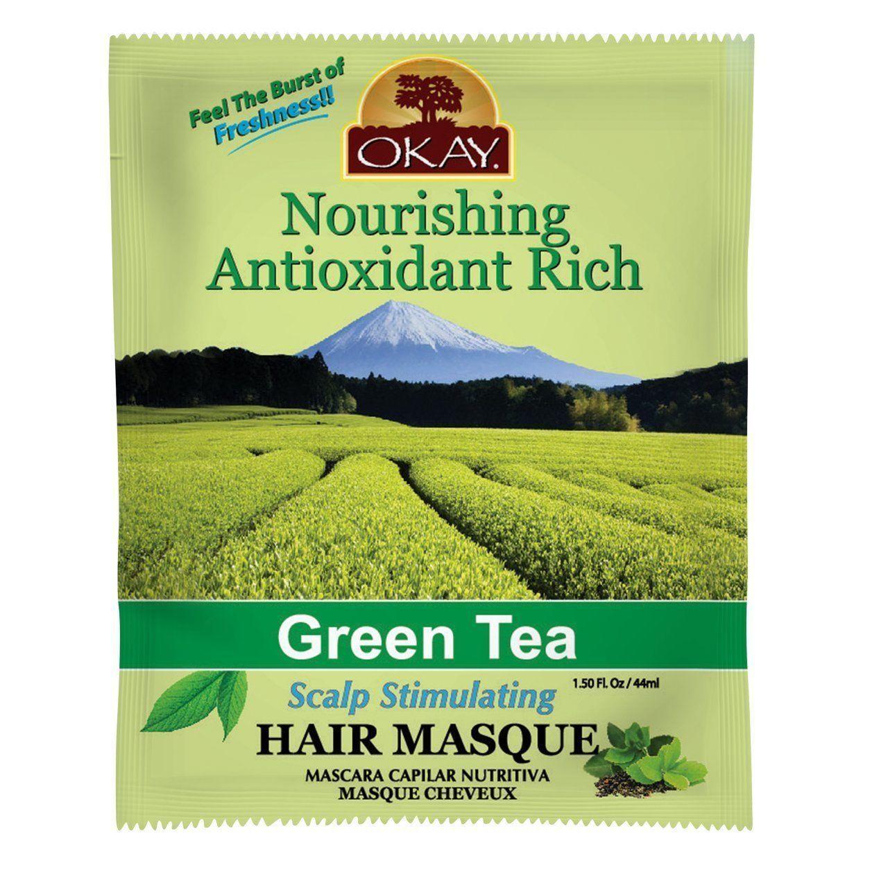 Okay Nourishing Antioxidant Rich Green Tea Scalp Stimulating Hair Masque 1.5oz