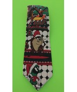 Vintage 1995 Warner Bros Looney Tunes Mania Christmas Characters Neck Ti... - $7.70