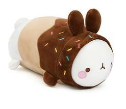 "Molang Donut Rabbit Fluffy Stuffed Animal Plush Toy Soft Mochi Cushion 9"" image 2"