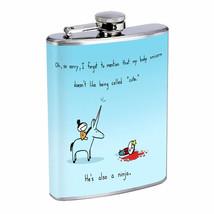 Ninja Unicorn Em1 Flask 8oz Stainless Steel Hip Drinking Whiskey - $13.81