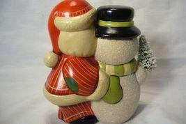 Vaillancourt Folk Art, Santa and Snowman Signed by Judi Vaillancourt image 3