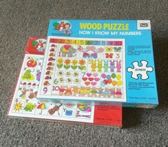Lot of 2 Wooden Jigsaw Puzzles RoseArt Educational Kids ABC and 123 Schoolhouse - $36.47