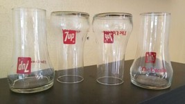 Set of 4 Vintage 1970's 7-UP The Uncola Collectible Upside Down Drinking... - $18.76