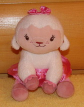 "Doc McStuffins Disney Lamb Plush 7"" Sitting LAMBIE in Pink Sateen Skirt - $5.79"
