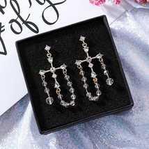 2020 Korean New Fashion Transparent Crystal Beads Tassel Earrings For Wo... - $10.22