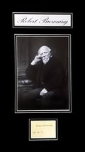 Robert Browning Original Autograph Circa 1887 - $1,250.00