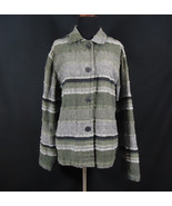 Chico's Design Woven Button Down Jacket Earth Tones Work, Office, Church... - $9.95