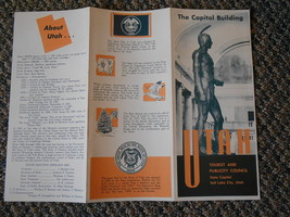 Old Vintage UTAH Tourist & Publicity Council State Capitol Brochure Souv... - $9.99
