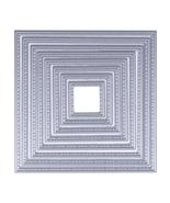 8 in 1 DIY Square Cutting Dies Suit Scrapbooking Decoration Template Fol... - $10.99