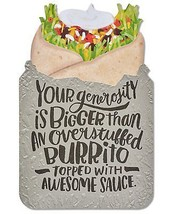 American Greetings Funny Burrito Thank You Card With Foil - $13.47