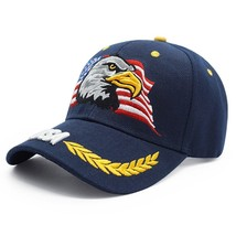 New Men Eagle Baseball Cap American Flag Embroidery Snapback Dad Hat Bon... - €15,81 EUR