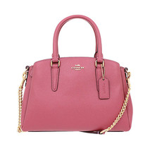 NWT COACH Mini SAGE Carryall Tote Shoulder Bag Crossbody Strawberry Pink... - $134.64