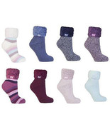 Heat Holders - Womens Thick Warm Thermal Non Skid Lounge Bed Socks With ... - $17.99