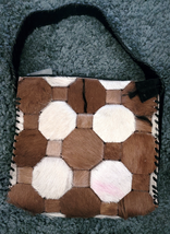 Western Hair On Cowhide Ladies Purse NEW Suede Back Whipstitch Pink Smudge image 1