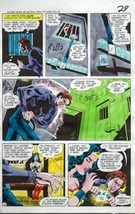 Original 1970's JLA Super Team Family color guide art page 29: Wonder Woman/Atom - $99.50