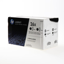 HP 26X 2-pack High Yield Black Original LaserJet Toner Cartridges (CF226XD) - $375.99