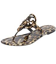 Size 9M NIB Tory Burch MILLER Leopard Print Thong Sandals - €166,94 EUR