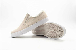 Nike SB Zoom Stefan Janoski Slip On Skate Shoes Sneakers Beige Bone Sued... - $113.81