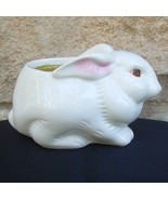 White Bunny Weiss Brazil Perfumed Candle Holder Floral Medley Avon Vintage - $9.99