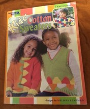 9 Knit Patterns Kids' Cotton Sweaters Melissa Leapman 45 Pg. Leisure Arts Book - $12.21