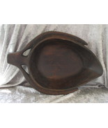Vintage Wood Leaf Shape Bowl - $15.00