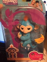 Boris Fingerlings WowWee Monkey Fingerlings Blue with Orange Hair 100% Authentic - $32.67