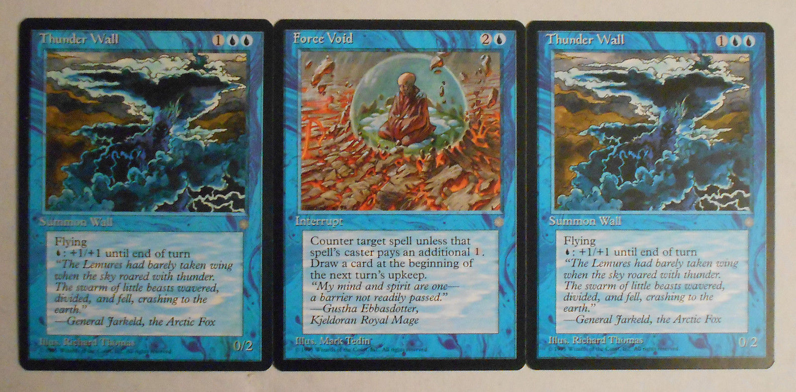 Force Void & Thunder Wall 2X mtg Ice Age and 49 similar items