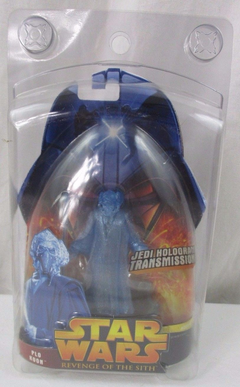 star wars revenge of the sith jedi hologram transmission plo koon figure